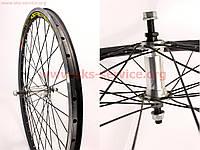 """Переднее колесо на велосипед 24"""" MTB """"капля"""" обод и втулка алюминиевые в сборе, крепл. гайка"""