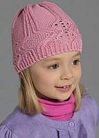 Вязанные шапки для девочек весна-осень