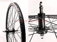 """Колесо на велосипед 26"""" заднее MTB """"капля"""" обод алюминиевый, втулка QUANDO в сборе, под вольнобег, диск.тормоз"""