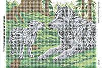 Схема для вышивки бисером Мать и дитя
