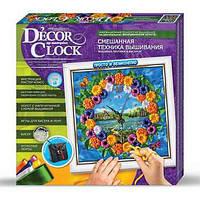 Вышивка Бисером Часы: Decor Цветы DC-01-02 Danko-Toys Украина