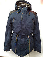 Синяя мужская куртка парка весенняя