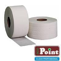 Туалетная бумага белая джамбо 1-шар 340м Eco Point Natural