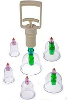 Вакуумные антицеллюлитные банки для массажа- 6 шт.