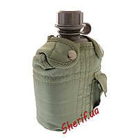 Фляга армейская MIL-TEC США 1 л с чехлом (Olive) 14505001