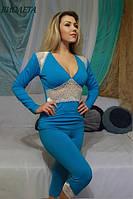 Женская трикотажная пижамка с бриджами ВИОЛЕТА FLEUR Lingerie