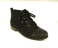 Женские ботинки весенние замшевые с камнями