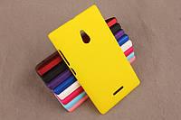 Чехол накладка бампер для Nokia XL желтый