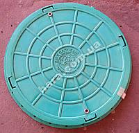 Люк садовый пластиковый 1 т(зеленый)