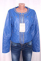 Женская кожаная куртка из кож-зама