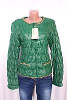 Куртка женская утепленная с эко-кожи