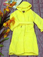 Банные халаты детские лимонные, Италия. 5-6 лет.