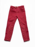 Теплые брюки-скинни для девочек с начесом красные