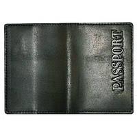 Обложка на паспорт (натур. кожа, черн.)