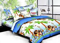 Детское постельное белье Мадагаскар ранфорс ТМ Вилюта голубой