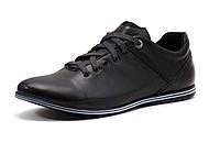 Спортивные туфли мужские натуральная кожа, черные, Турция GS-комфорт, фото 1