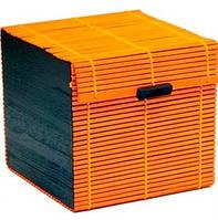 Коробка бамбуковая оранжевая квадрат AS-20