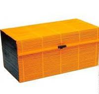 Коробка бамбуковая оранжевая прямоугольная AS-21