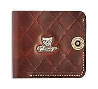 Кошелек, бумажник, портмоне мужской Gato Negro Handy-X Brown ручной работы