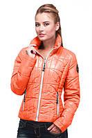 Молодежная демисезонная куртка на молнии с карманами в ярких расцветках