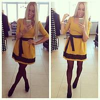 Красивое желтое летнее платье Redin s- 203302