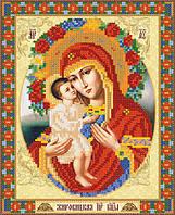 Схема для вышивки бисером Жировицкая икона Божией Матери