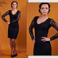 Платье трикотаж «Ванесса» гипюр