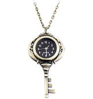 Карманные женские часы в виде ключа на подвеске