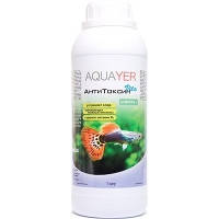 AQUAYER АнтиТоксин Vita средство для подготовки воды безопасной для рыб в аквариуме, 1л