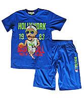 Комплект шорты футболка; 128 размер