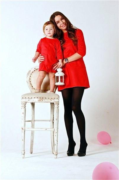 Платье мама и дочка одинаковые купить