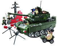 Конструктор Brick 823 Танк из серии Зона боевых действий/Combat zone