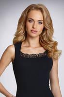 Женская майка черного цвета из хлопка, модель Klaudyna Eldar