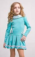 Удобное  и красивое платье для девочки, трикотаж