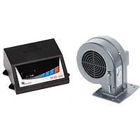 Вентилятор и автоматика для твердотопливных котлов SP-05 LED + DP-02 ALU