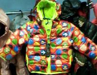 Весенняя детская курточка Веселые кружочки от полугода до 2 лет ,S173