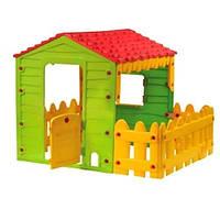 Детский игровой домик с крытой верандой STARPLAST