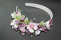 """Ободок для волос """"Яблоневый сад"""". Авторские работы, украшения из цветов. Hand Made."""