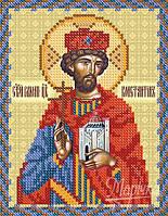 Св. Равноап. Царь Константин на атласе для вышивки бисером