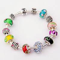 Женский браслет Pandora (Пандора) разноцветный