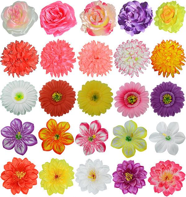 Головки искусственных цветов, пресс цветы для декора 🌼