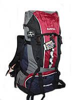Туристический рюкзак ElenFancy на 65 л.  красный