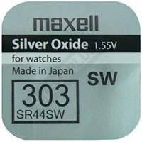 Батарейка в часы Maxell 303 SR44 SW