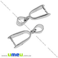 Держатель для кулона, 25 мм, Темное серебро, 1 шт (OSN-010298)