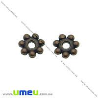 Бусина-разделитель мет., 4 мм,  Медь, 1 шт (BUS-001814)