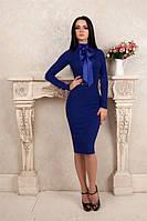 Деловое трикотажное платье футляр