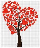 Рисование камнями на холсте Lasko Дерево любви (TD004) 27,5 х 33 см