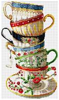 Рисование камнями на холсте Lasko Набор кофейных чашек (TK012) 28,5 х 47,5 см