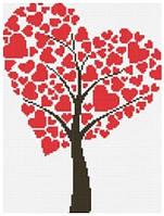 Рисование камнями LASKO Древо любви (SD004) 27,5 х 33 см