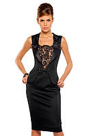 Эффектное платье-футляр с французким кружевом
